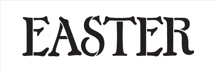 Easter - Word Stencil - Chunky Serif