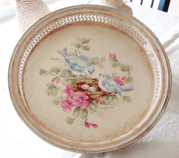 Vintage Bluebirds and Roses Tray - E-Packet - Debi Coules