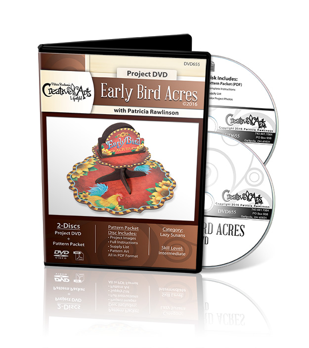Early Bird Acres Lazy Susan DVD and Pattern Packet - Patricia Rawlinson