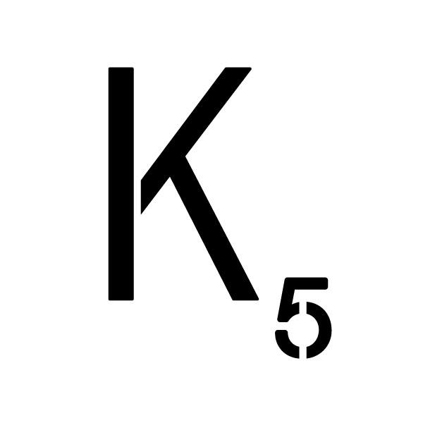 "Word Game Letter Stencil - K - 6"" x 6"""