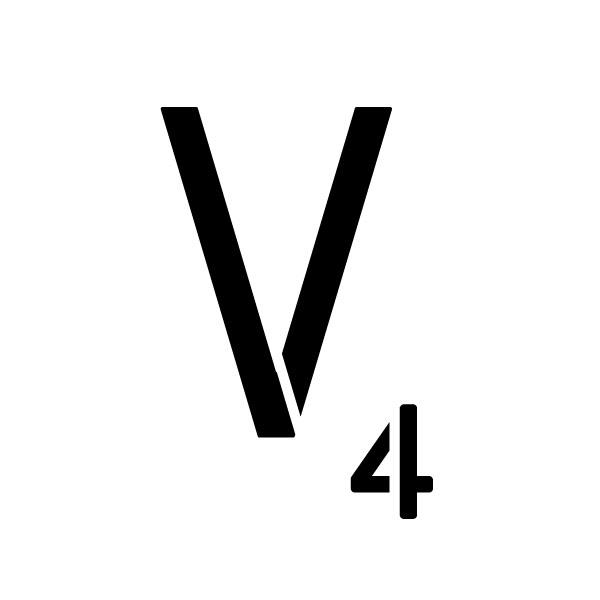 "Word Game Letter Stencil - V - 6"" x 6"""