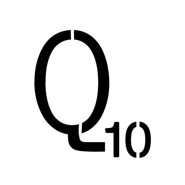 "Word Game Letter Stencil - Q - 9"" x 9"""