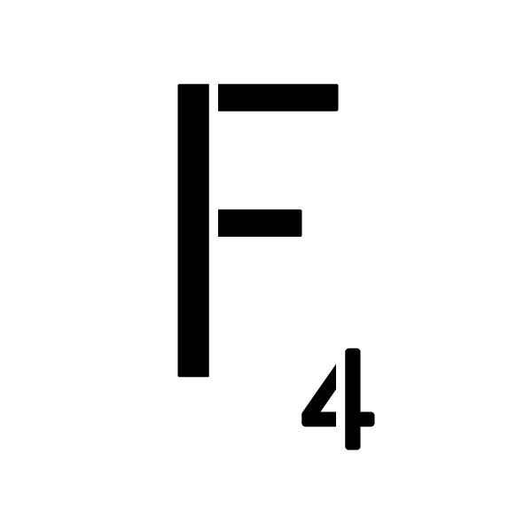 """Word Game Letter Stencil - F - 12"""" x 12"""""""