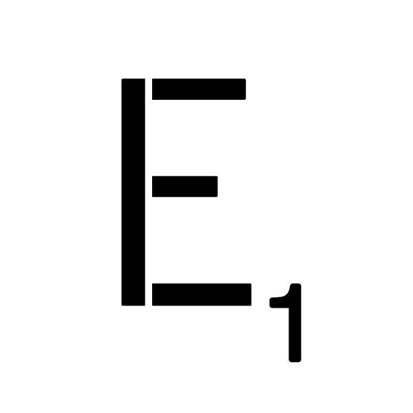 """Word Game Letter Stencil - E - 15"""" x 15"""""""