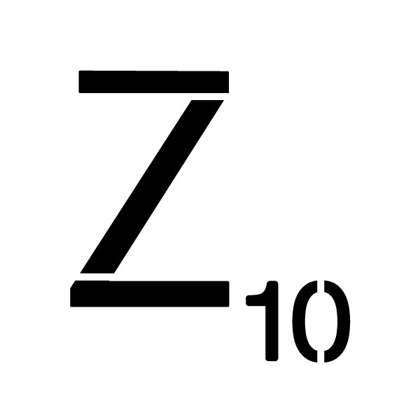 "Word Game Letter Stencil - Z - 15"" x 15"""