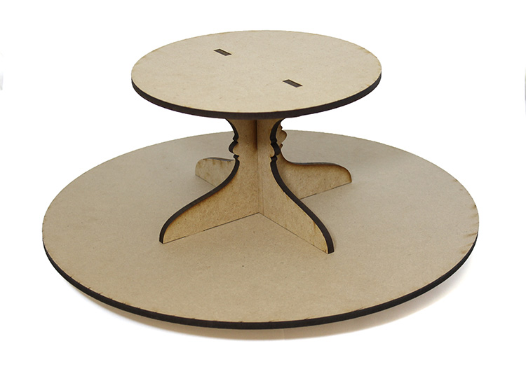 Round Lazy Susan with Tier