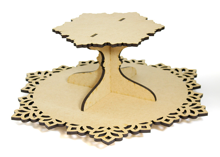 Snowflake Lazy Susan with Tier - Includes Base