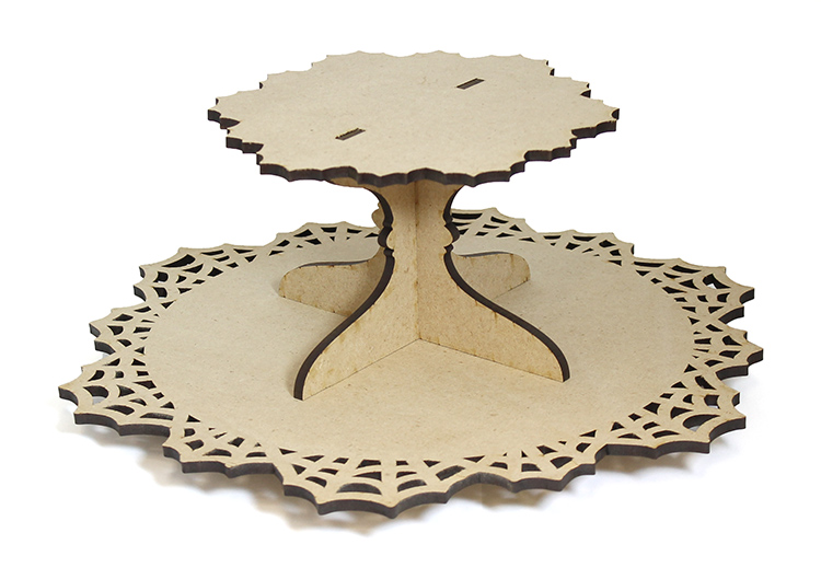 Spiderweb Lazy Susan with Tier - Includes Base