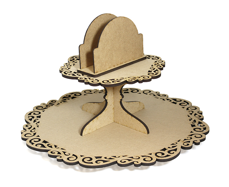 Scroll Lazy Susan with Napkin Holder