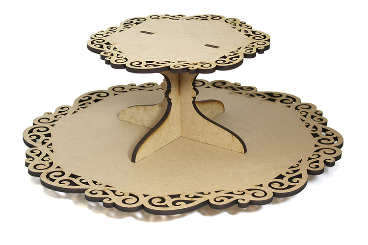 Scroll Lazy Susan with Tier - Includes Base