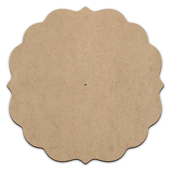 Fancy Scalloped Lazy Susan - with Pilot Hole