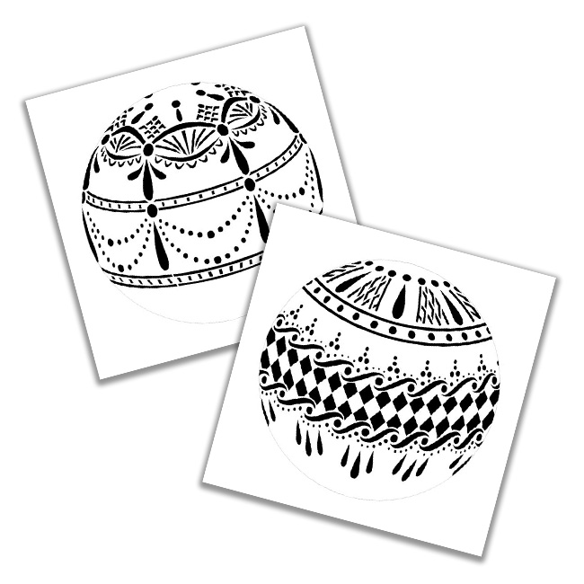 """Emerald Lace & Lovely Lace Ornament Stencil Set - 5"""" (6"""" x 6"""" sheet)"""