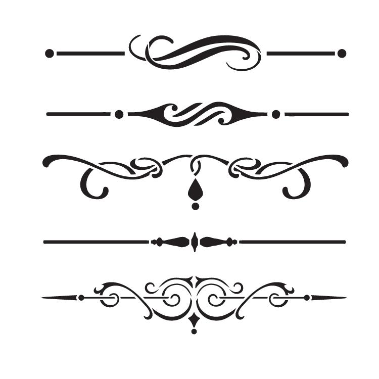 """Underline Accents - Art Stencil - 6"""" x 6"""" - STCL1120_1"""