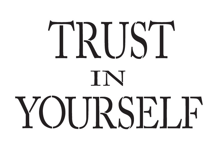 "Trust in Yourself - Word Stencil - 13"" x 9.5"" - STCL1138_2"