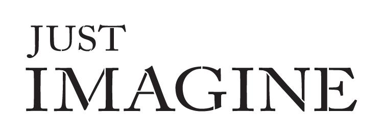 """Just Imagine - Word Stencil - 11"""" X 4"""" - STCL1149_1"""