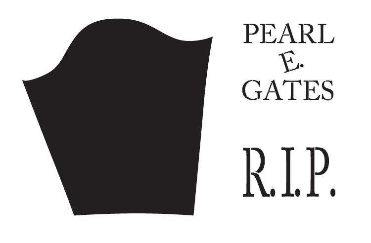 """RIP Pearl E. Gates - Word Art Stencil - 16"""" X 10.5"""" - STCL1153_1"""