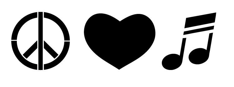 "Peace, Love & Music - Art Stencil - 18"" X 6.75"" - STCL1163_3"