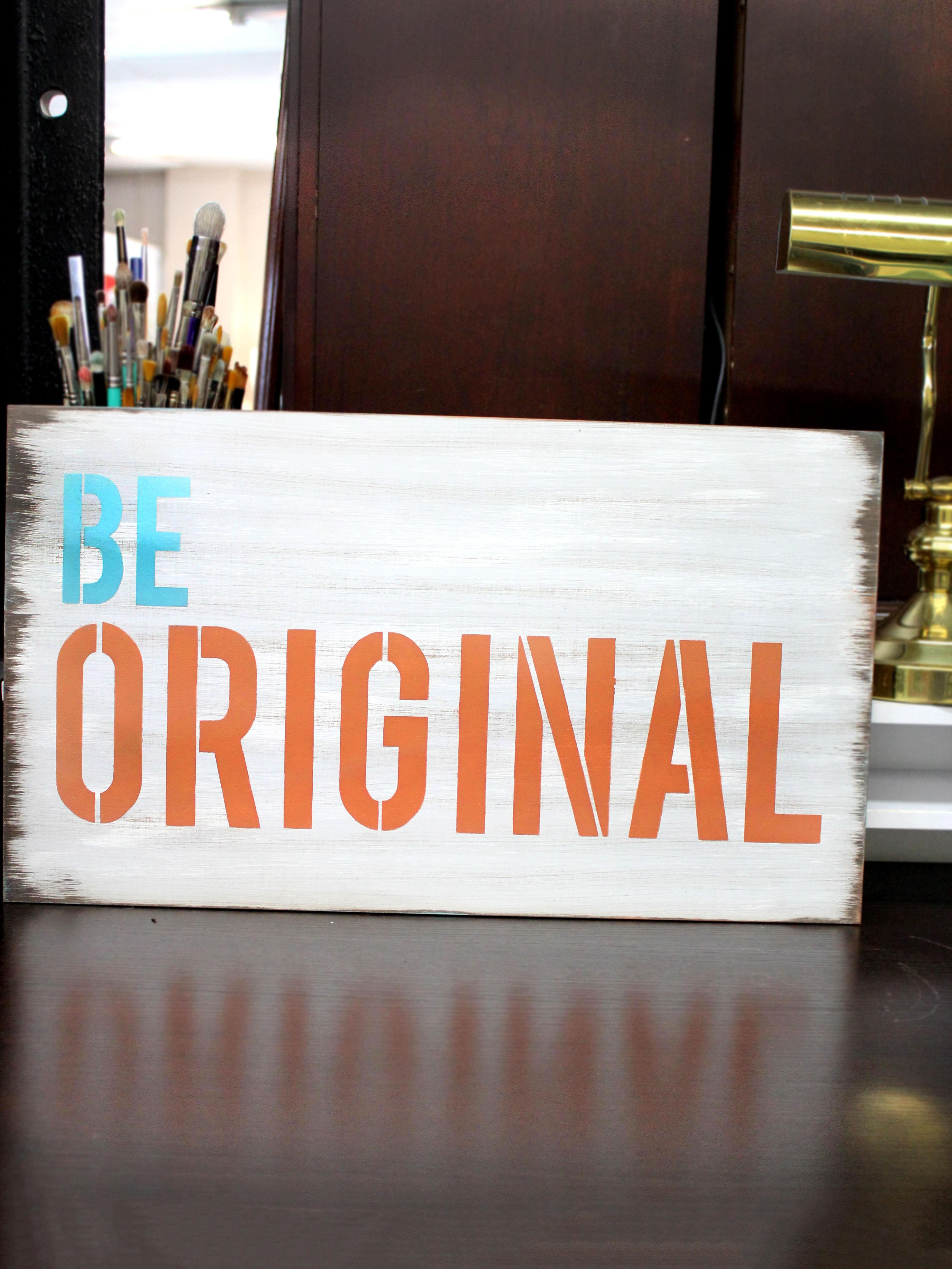 """Be Original - Word Stencil - 13"""" x 7"""" - STCL1144_2"""