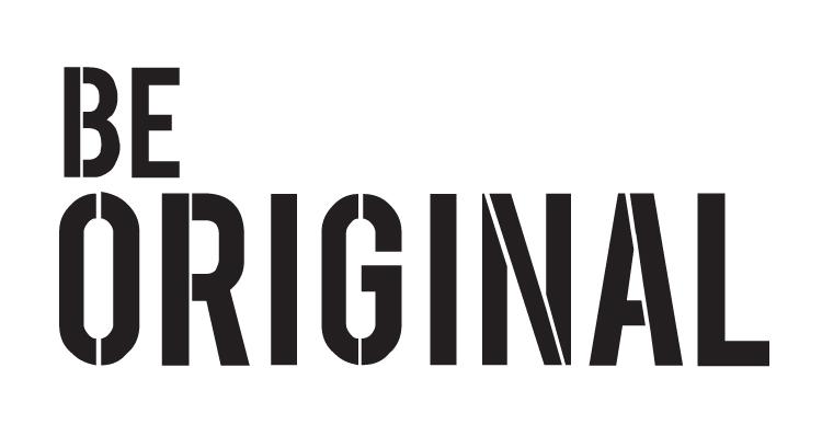 """Be Original - Word Stencil - 15"""" x 8"""" - STCL1144_3"""