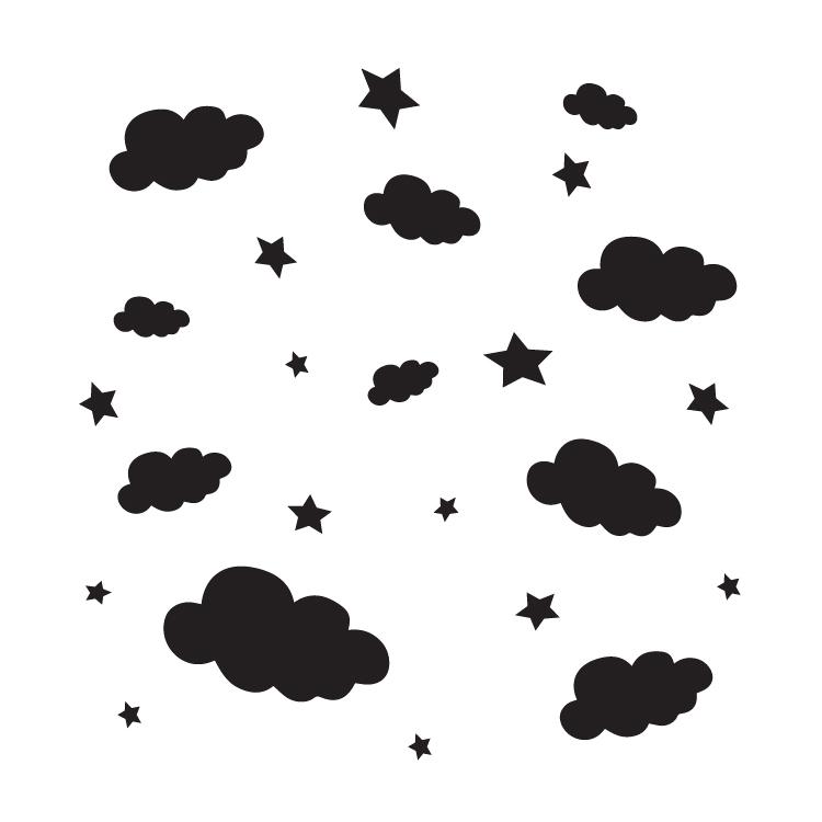 """Cloudy Night - Art Stencil - 15"""" x 15"""" - STCL1122_4"""