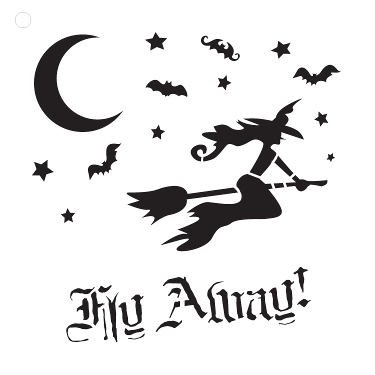 "Fly Away - Art Stencil - 12"" x 12"""