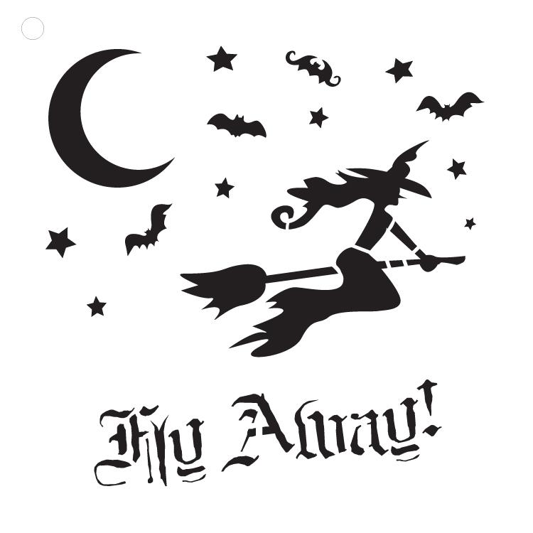 "Fly Away - Art Stencil - 15"" x 15"""