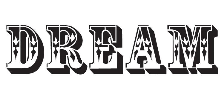 "Dream - Word Stencil - Coffee Tin - 22.5"" x 9"" - STCL1131_3"