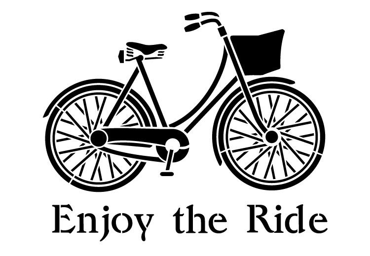 "Enjoy the Ride - Word Art Stencil - 19"" x 13.5"" - STCL1176_2"