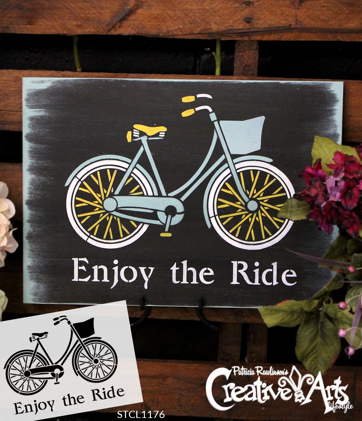 "Enjoy the Ride - Word Art Stencil - 19"" x 13.5"" - STCL1176_2"