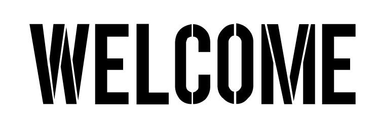 "Welcome - Modern Headline - Horizontal - Word Stencil - 7"" x 2.5"" - STCL1181_1"