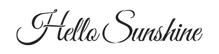 """Hello Sunshine -Trendy Script - Word Stencil - 12"""" x 3"""" - STCL1188_1"""