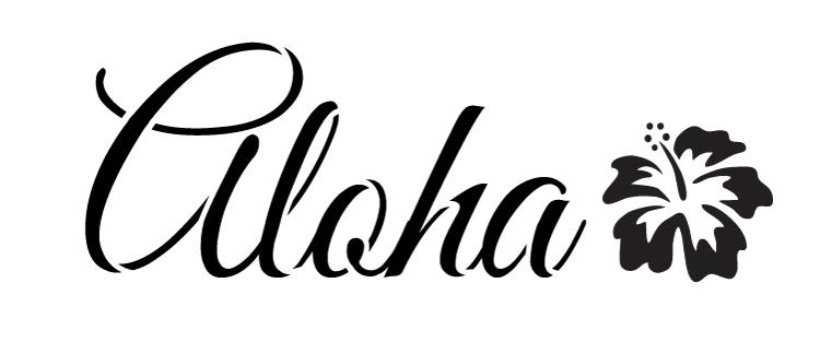 """Aloha -  Word Art Stencil -  6"""" x 2.5"""" - STCL1191_1"""