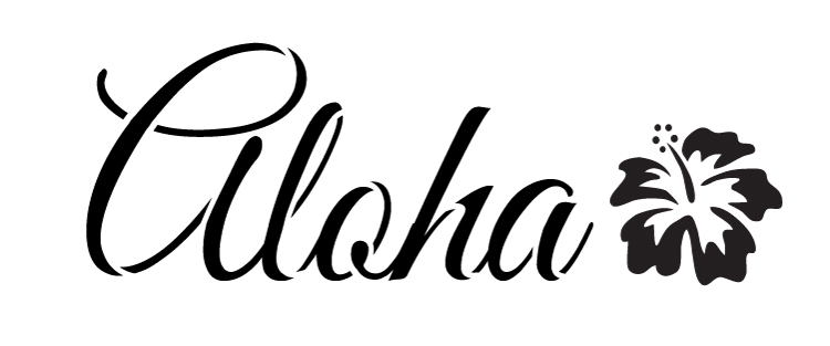 """Aloha -  Word Art Stencil -  13.5"""" x 5"""" - STCL1191_3"""