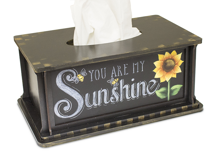 You Are My Sunshine Tissue Box - Pattern Packet by Patricia Rawlinson