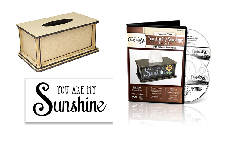 You Are My Sunshine Tissue Box Deluxe Set