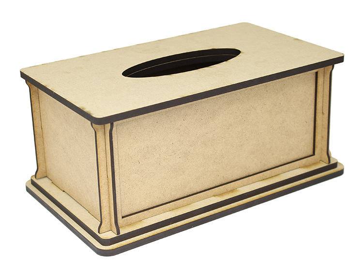 Rectangle Tissue Box - with Removable Panel - Standard