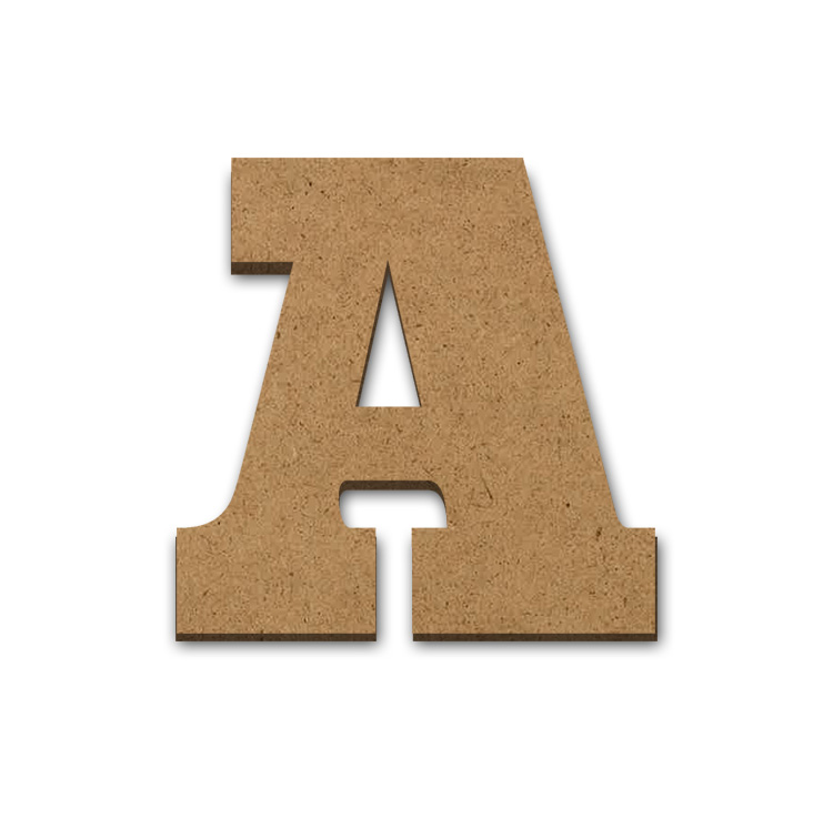 "Wood Letter Surface - A - 15"" x 15"""