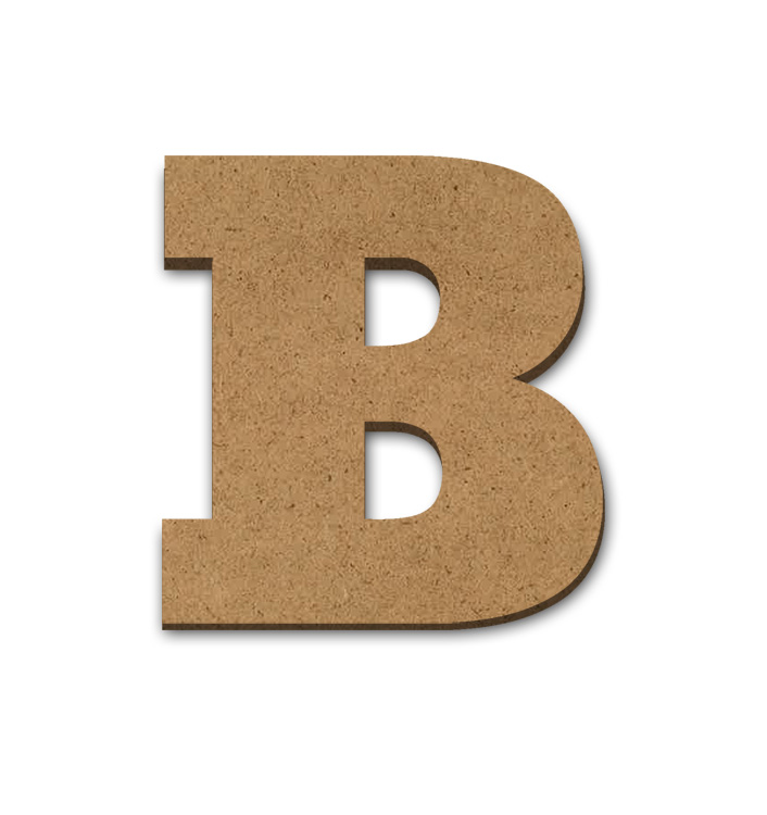 "Wood Letter Surface - B - 4"" x 3 3/4"""