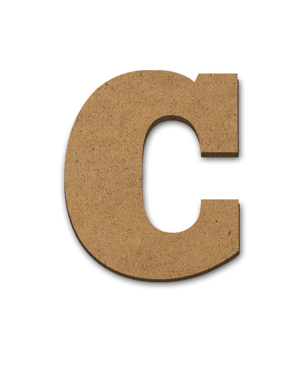 "Wood Letter Surface - C - 6"" x 5 1/2"""