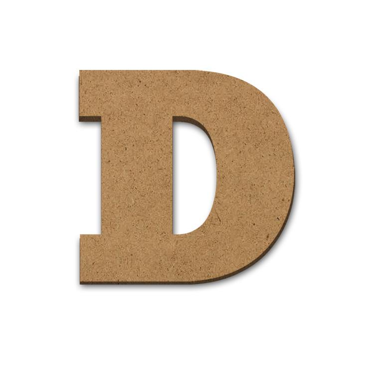 """Wood Letter Surface - D - 9"""" x 9 1/8"""""""
