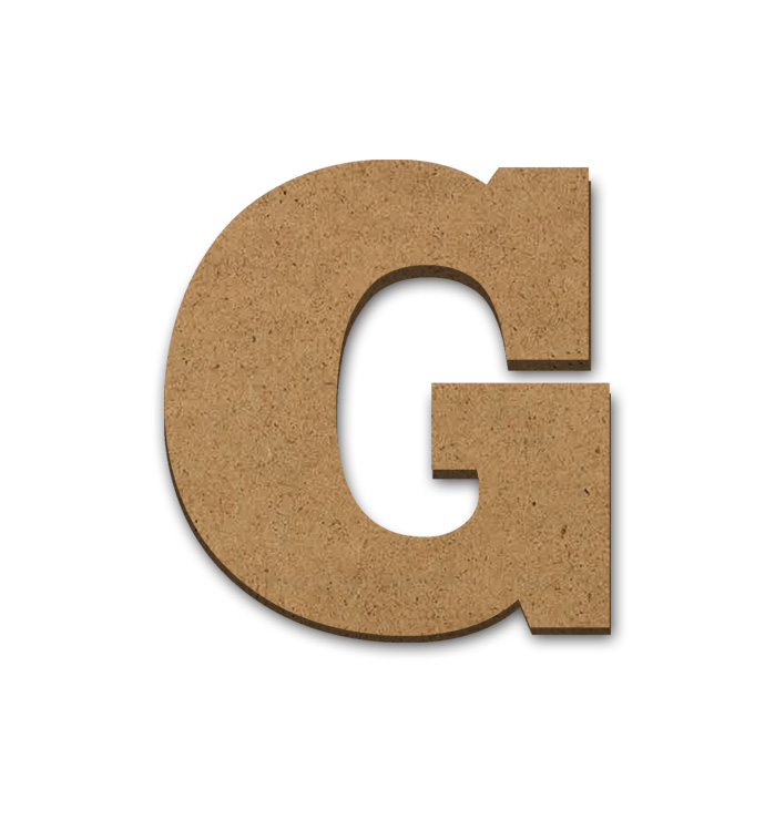 """Wood Letter Surface - G - 6"""" x 5 1/2"""""""