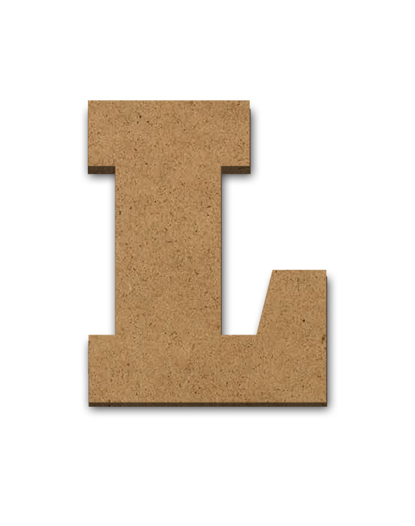 "Wood Letter Surface - L - 6"" x 5 1/2"""