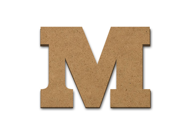 """Wood Letter Surface - M - 12"""" x 16 1/2"""""""