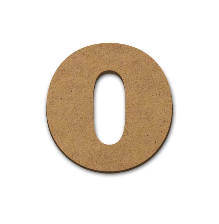 "Wood Letter Surface - O - 9"" x 9 3/8"""