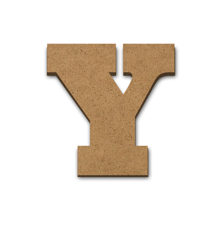 """Wood Letter Surface - Y - 9"""" x 9"""""""