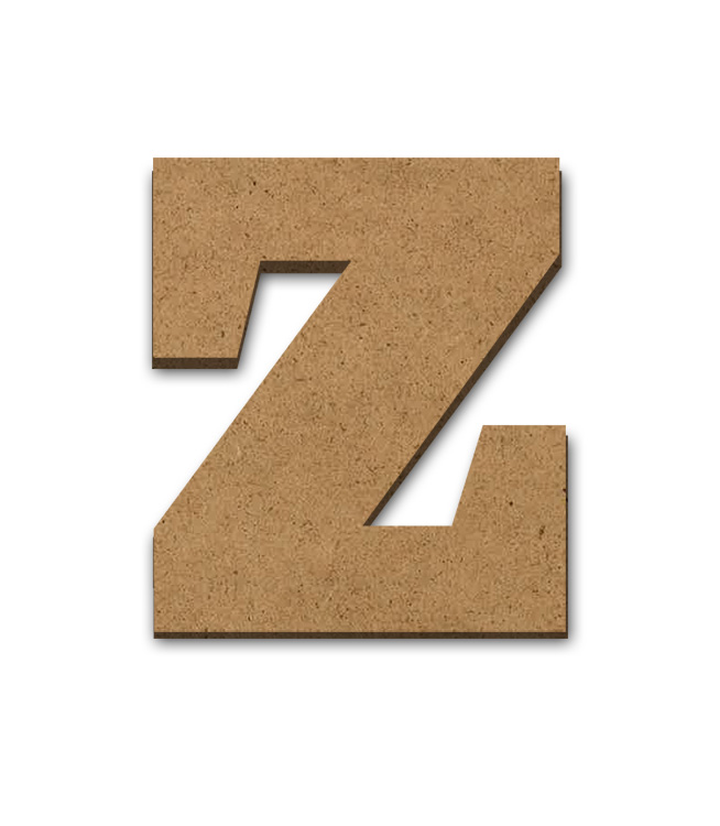 "Wood Letter Surface - Z - 6"" x 5 1/2"""