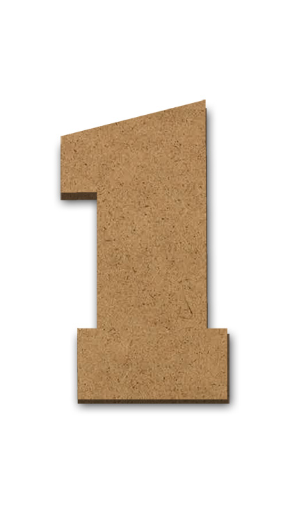 """Wood Letter Surface - 1 - 4"""" x 2 1/4"""""""