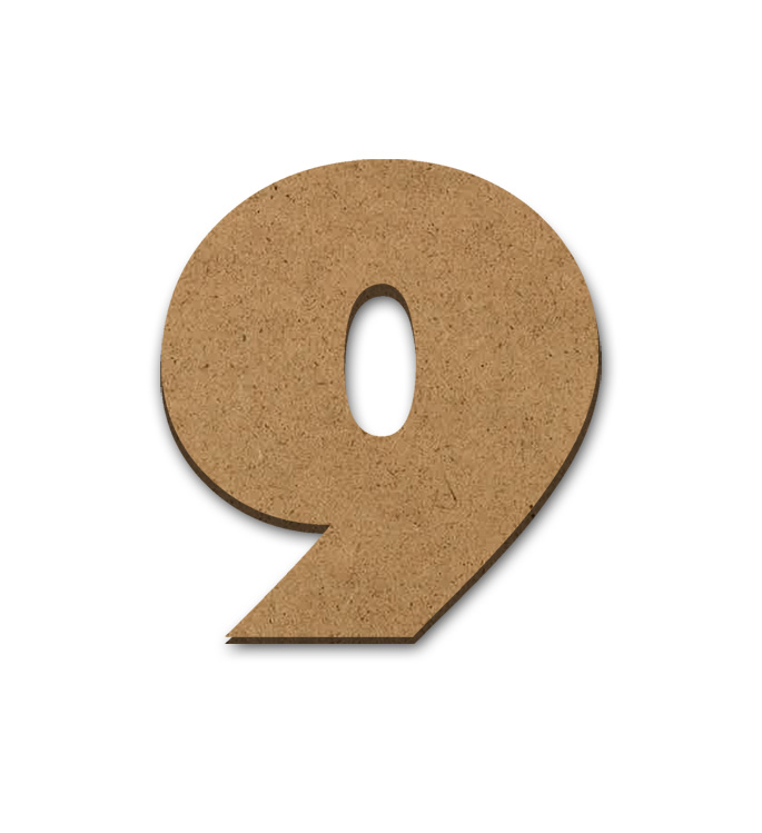 """Wood Letter Surface - 9 - 6"""" x 5 5/8"""""""