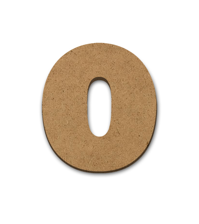 """Wood Letter Surface - 0 - 9"""" x 8 1/4"""""""