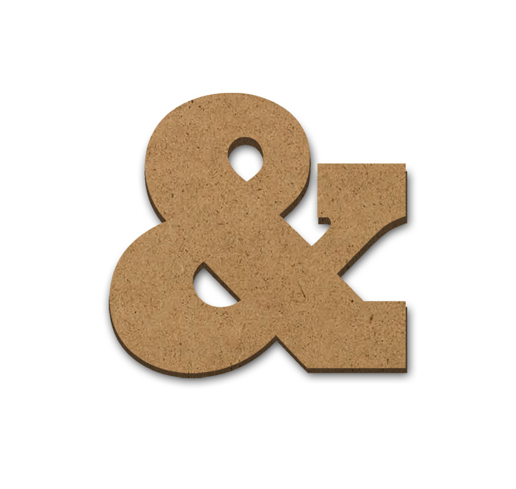 "Wood Letter Surface - Ampersand - 15"" x 15"""